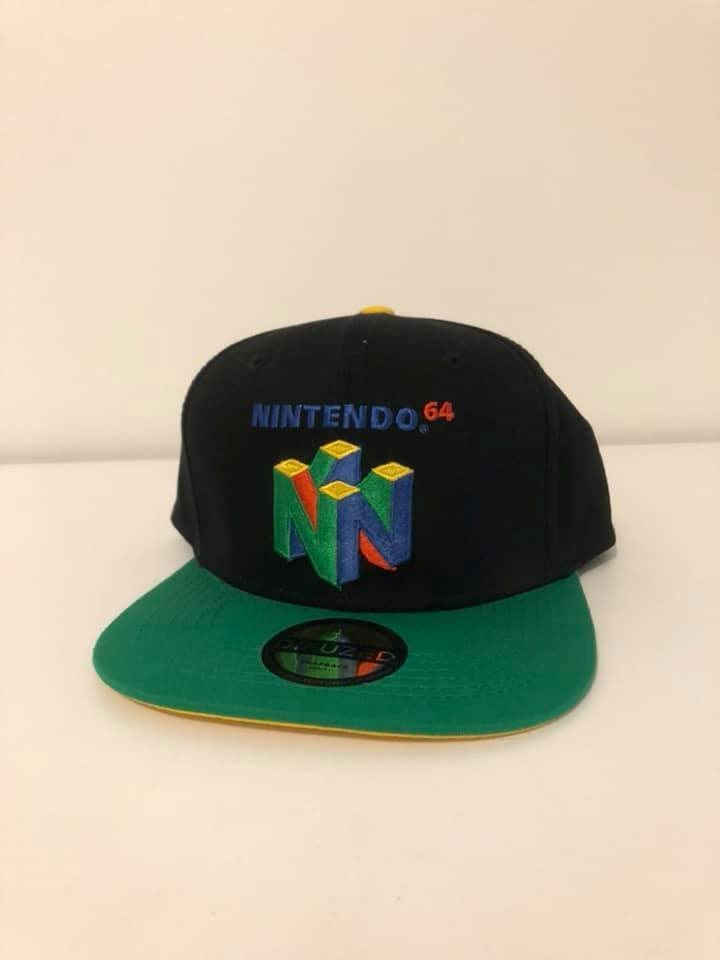 b605233c643 Official Licensed Nintendo 64 Embroidered Logo Colourful Snapback Cap Hat -  Ny