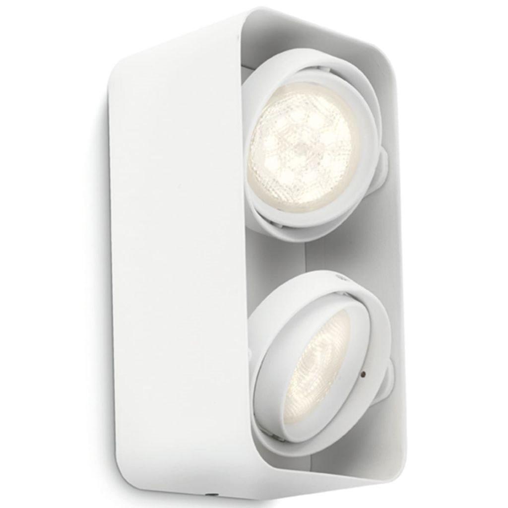 Philips myLiving LED-spotlight Afzelia kub 2x4,5 W vit 532023116 på