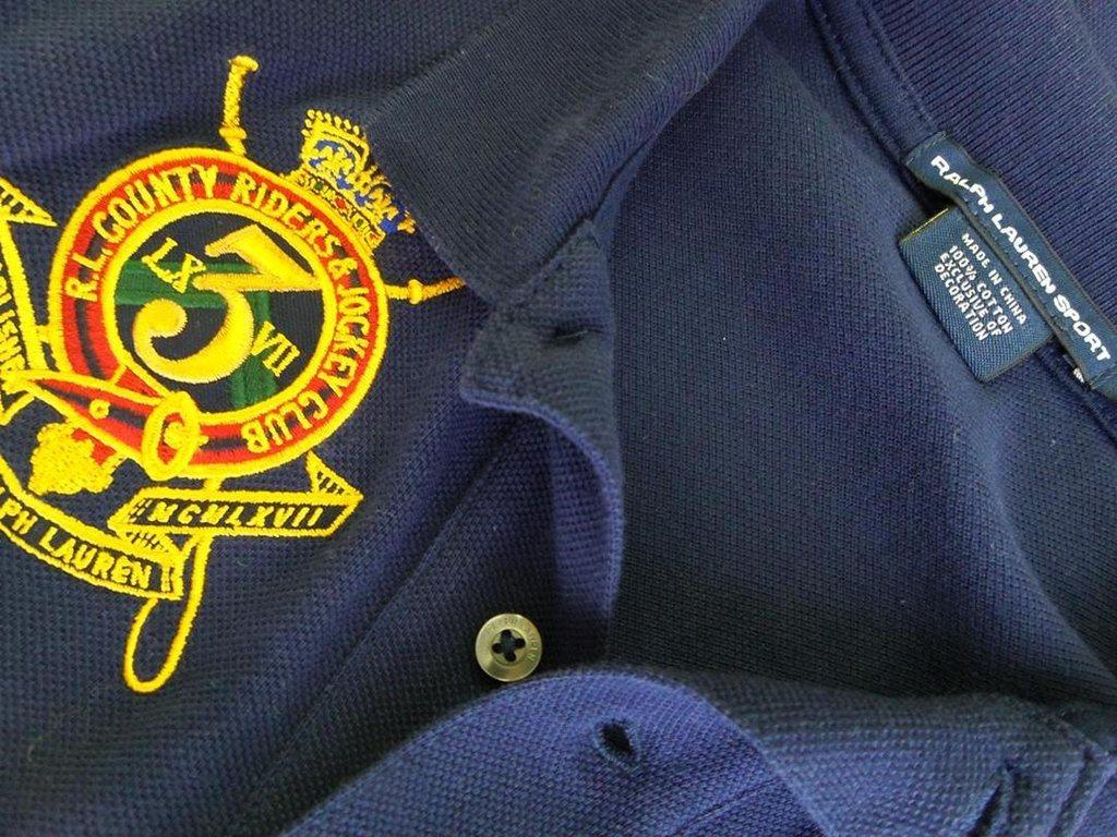 RALPH RALPH RALPH LAUREN SPORT Kortärmad tunika Storlek S Marinblå 100% Bomull Logo fd8d9b