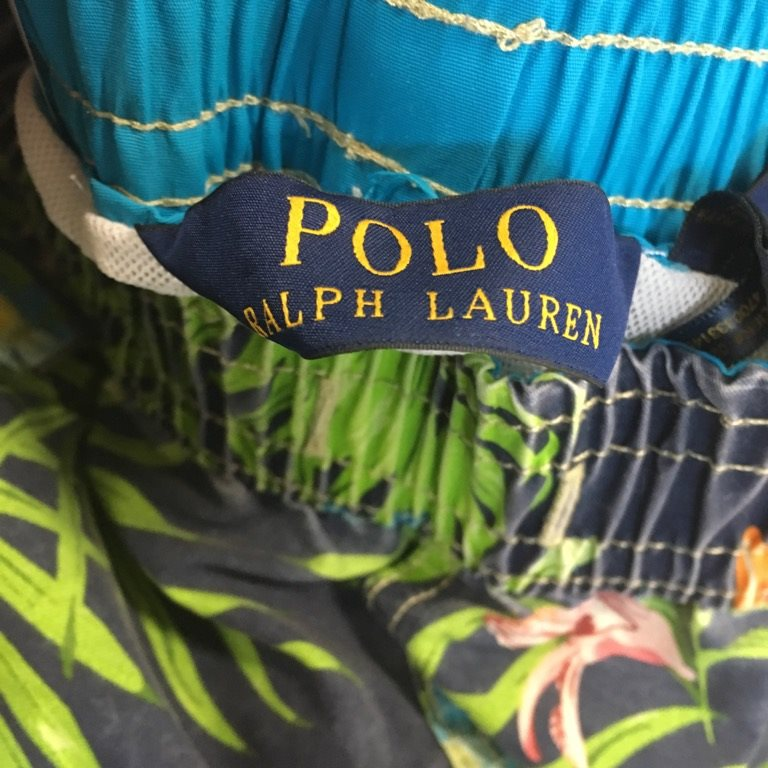 Polo Ralph Lauren, Badbyxor, Badbyxor, Badbyxor, Strl: S, Blå/Grön, Polyester 8064a5