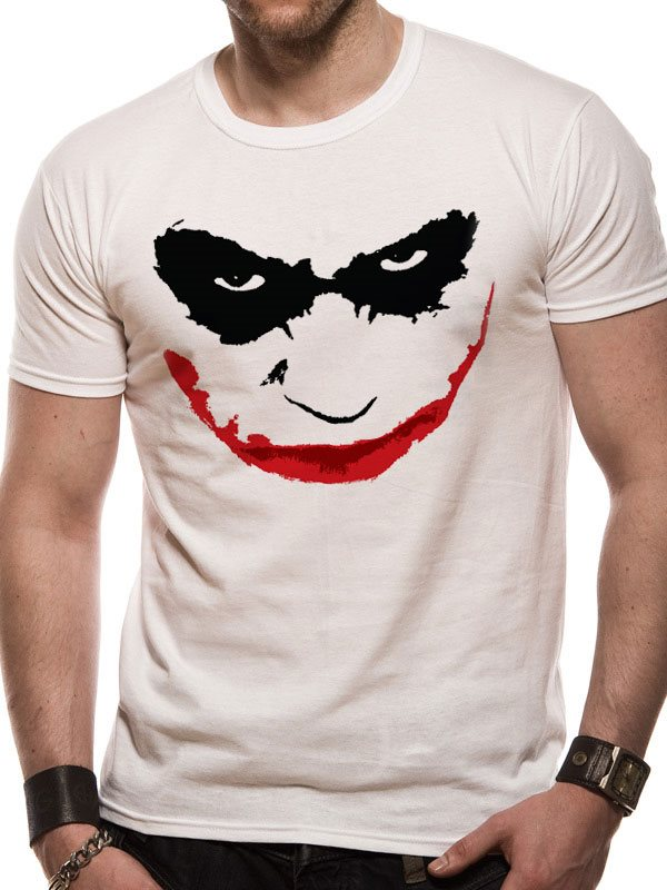 BATMAN THE DARK KNIGHT - JOKER SMILE OUTLINE T-Shirt - Small