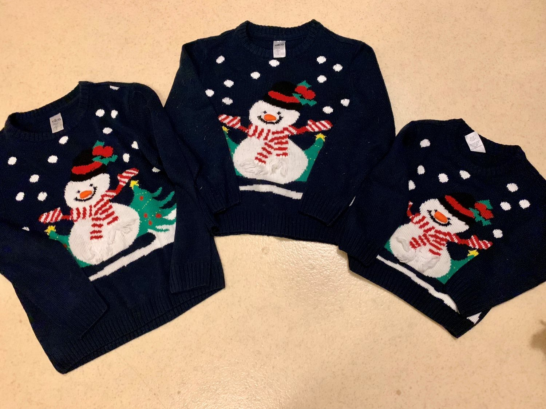 Jultröjor barn snögubbe stl 86 5400499ce4843