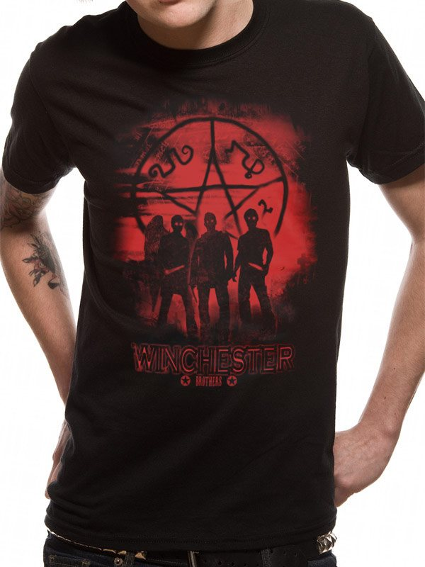 SUPERNATURAL - SYMBOL AND GROUP (UNISEX)  T-Shirt - Large