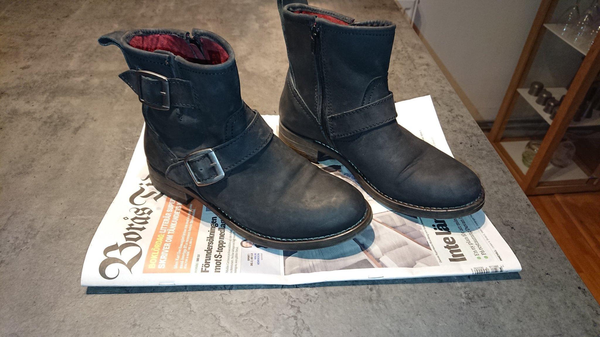 Helt nya svarta SHOOT boots k?ngor st?vlar storlek 39