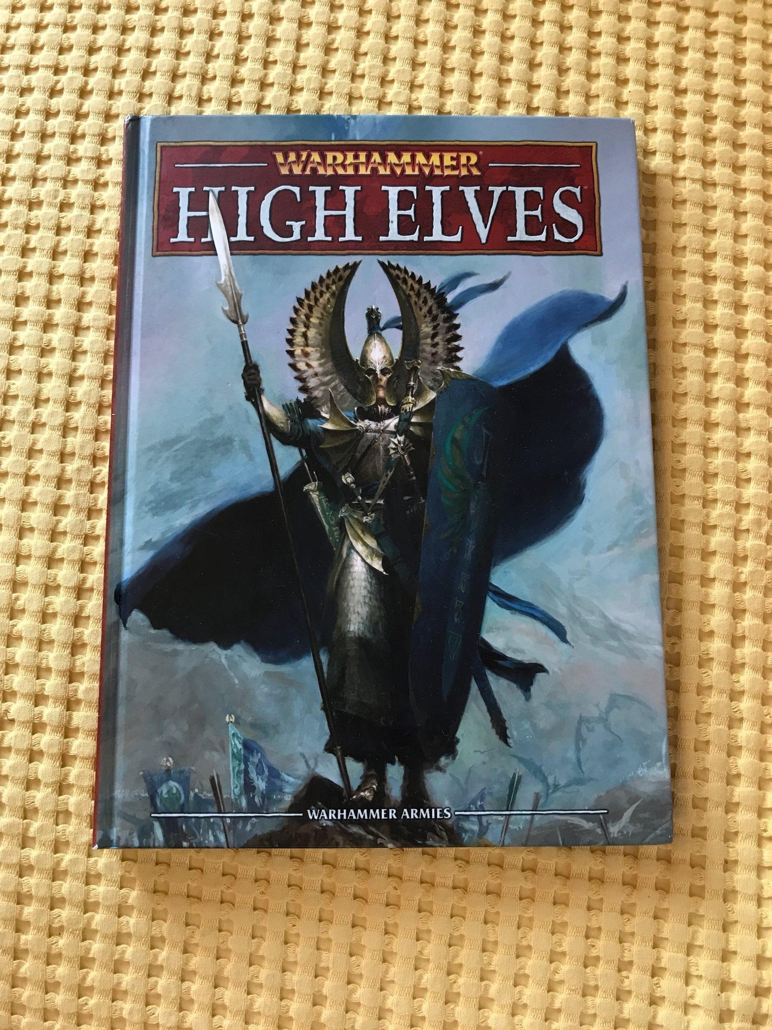 Warhammer High Elves Army Book