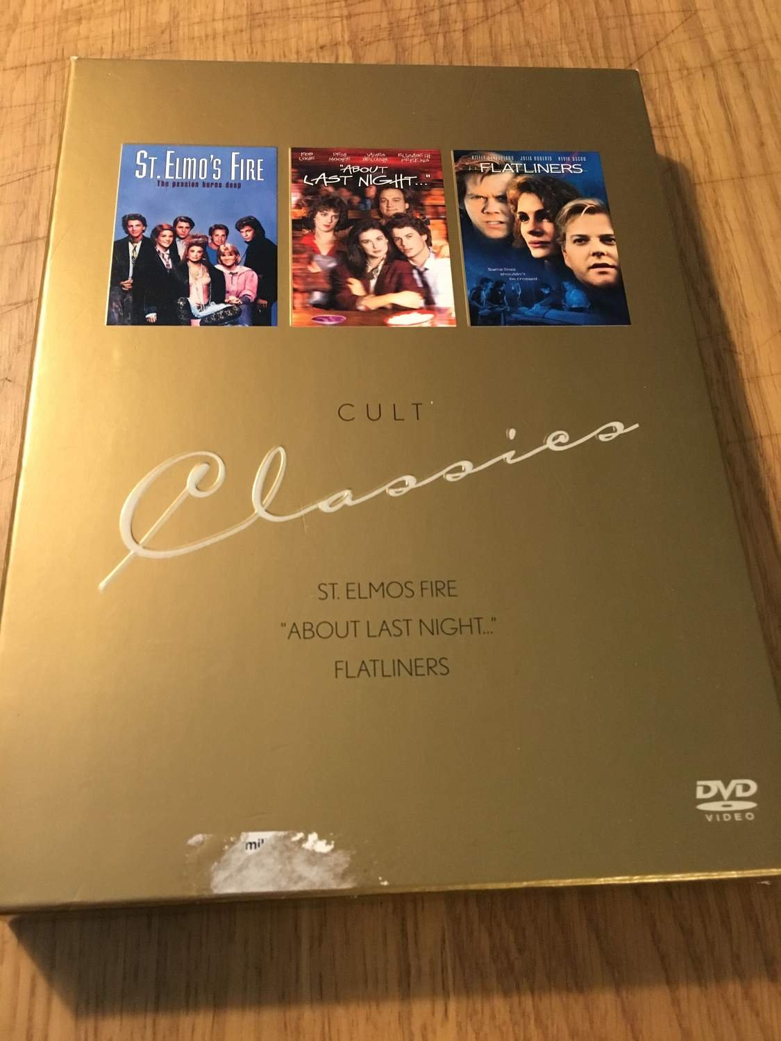 St. Elmo's Fire, About Last Night, Flatliners - DVD