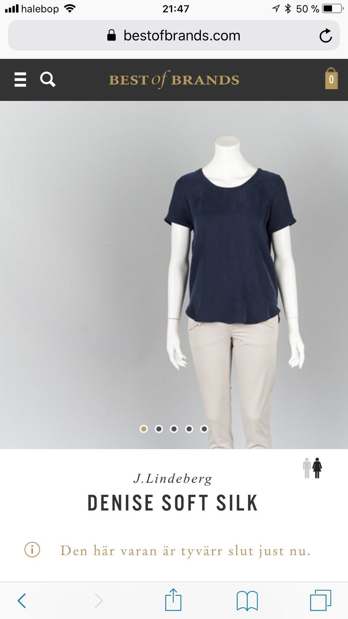 J.Lindeberg VIT topp stl 34 Denise soft Silk