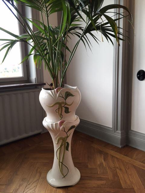 Piedestal för blommaväxt i porslin Stil art deco