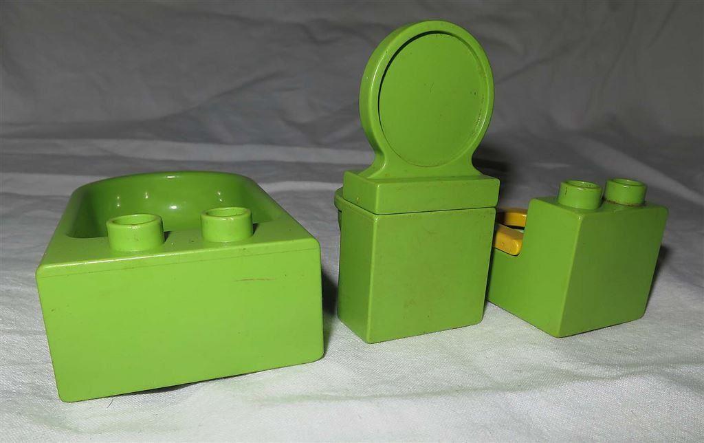 Handfat Toalett : Lego duplo möbler handfat badkar och toalett till badrum hus på