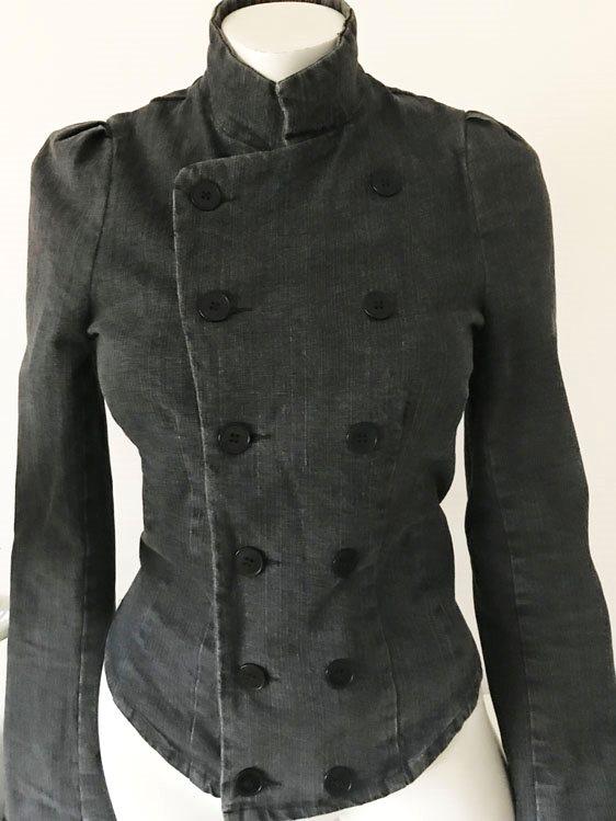 Rodebjer fri frakt grå svart jeansjacka officer jacka jeans denim  officerjacka S 2e325fbd7080a