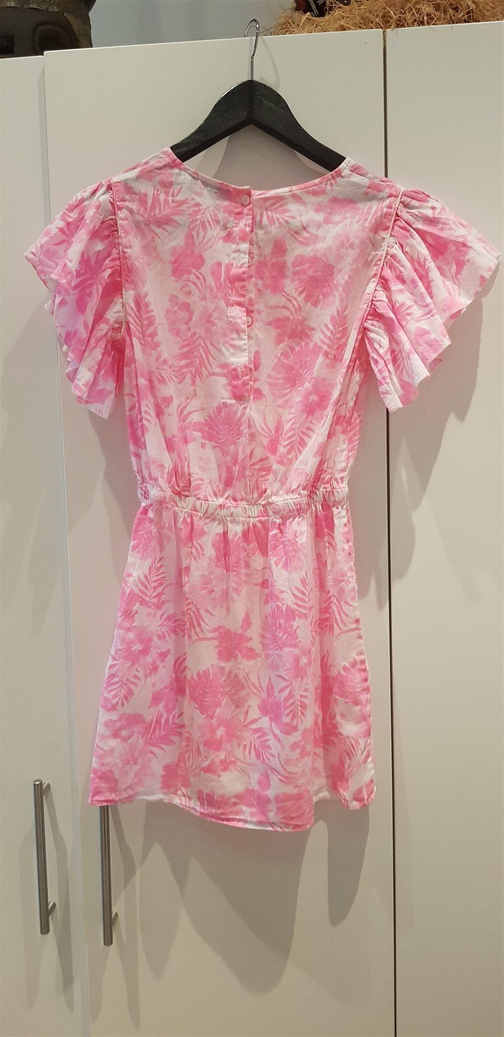 Vit rosa klänning från