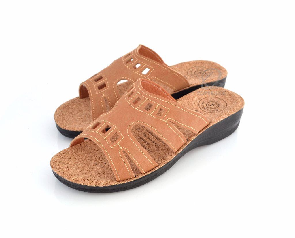 Nya bruna BIO KORK damskor sandaler kilklack flip-flop dam sommar skor stl  41 4c29fd7921871