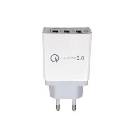 3x Micro USB till iPhone Lightning Snabbladdning Laddare, Svart