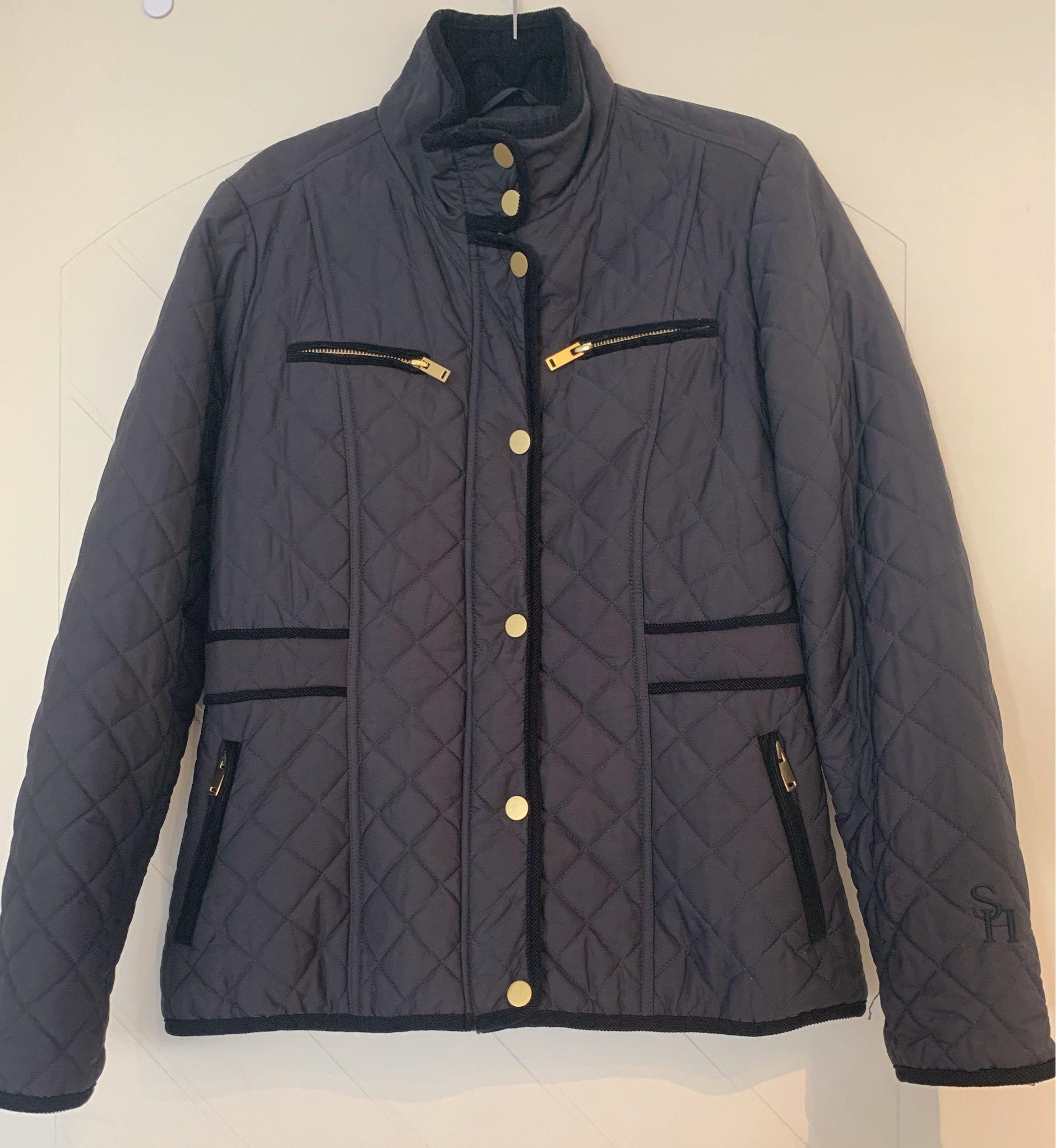 Mörkblå quiltad jacka vårjacka från STOCKH LM MQ (391058876