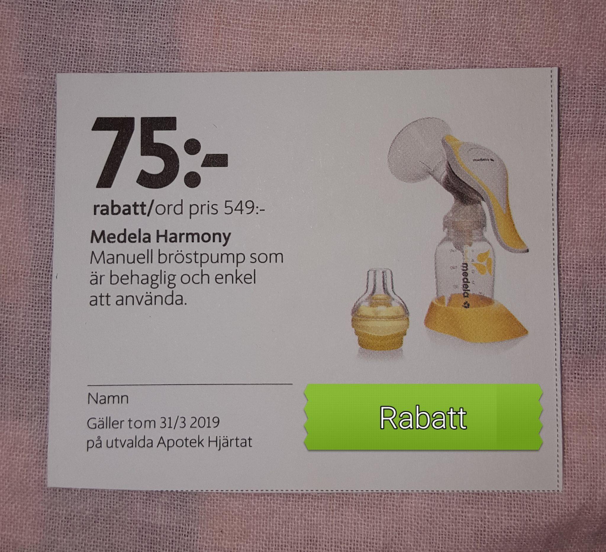 Rabattkupong Kronans apotek manuell bröstpump (327735164) ᐈ Köp på ... 7b054dd531778