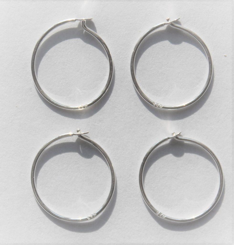 2 par Läkringar i sterling silver 14mm.. (268607504) ᐈ Kurius1 på ... 4b5b1ae33de66