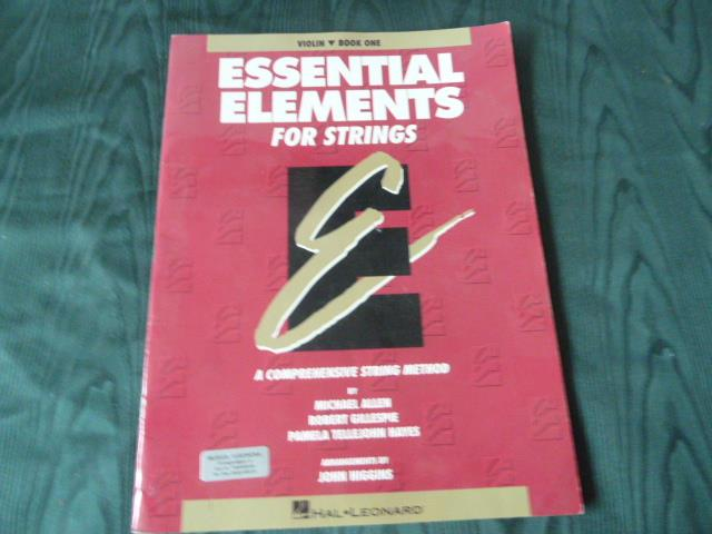 ESSENTIAL ELEMENTS FOR STRINGS, A COMPREHENSIVE STRING METHOD,  NOTHÄFTE, NOTBOK
