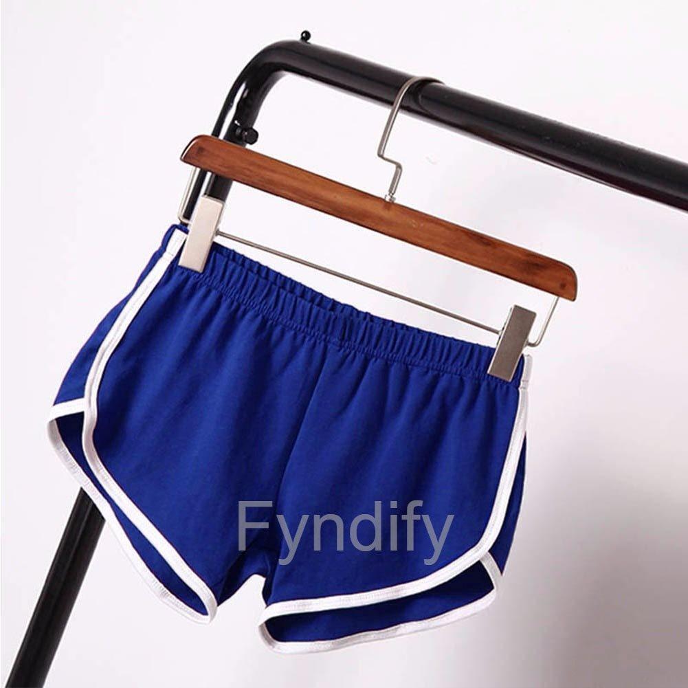 blå shorts dam