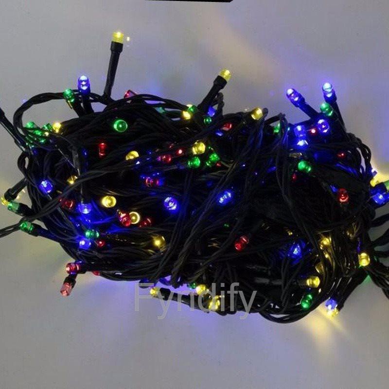 Soldriven LED-Slinga 100 LEDs Utomhus Bruk Multifärgad