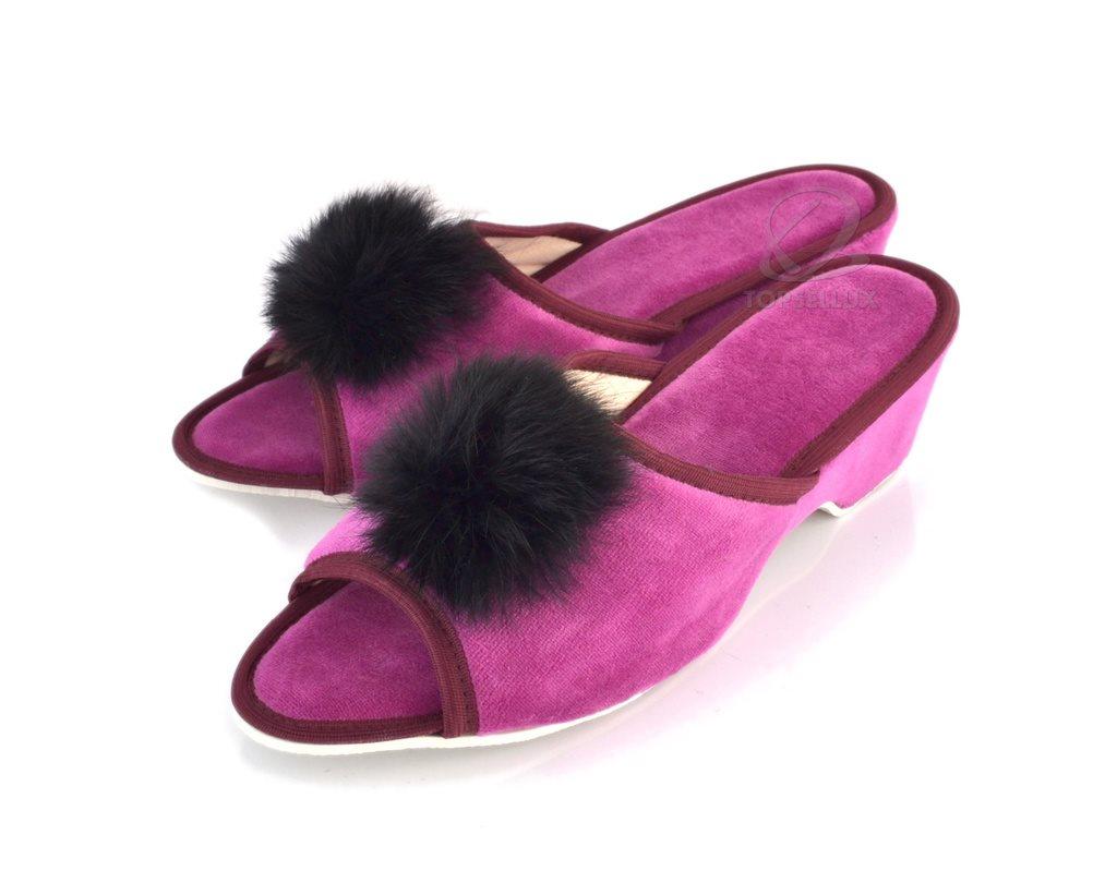 8cc62fb53408 Nya sexiga pom pom tofflor flip flops rosa damskor dam sandaler päls skor  stl 41 ...