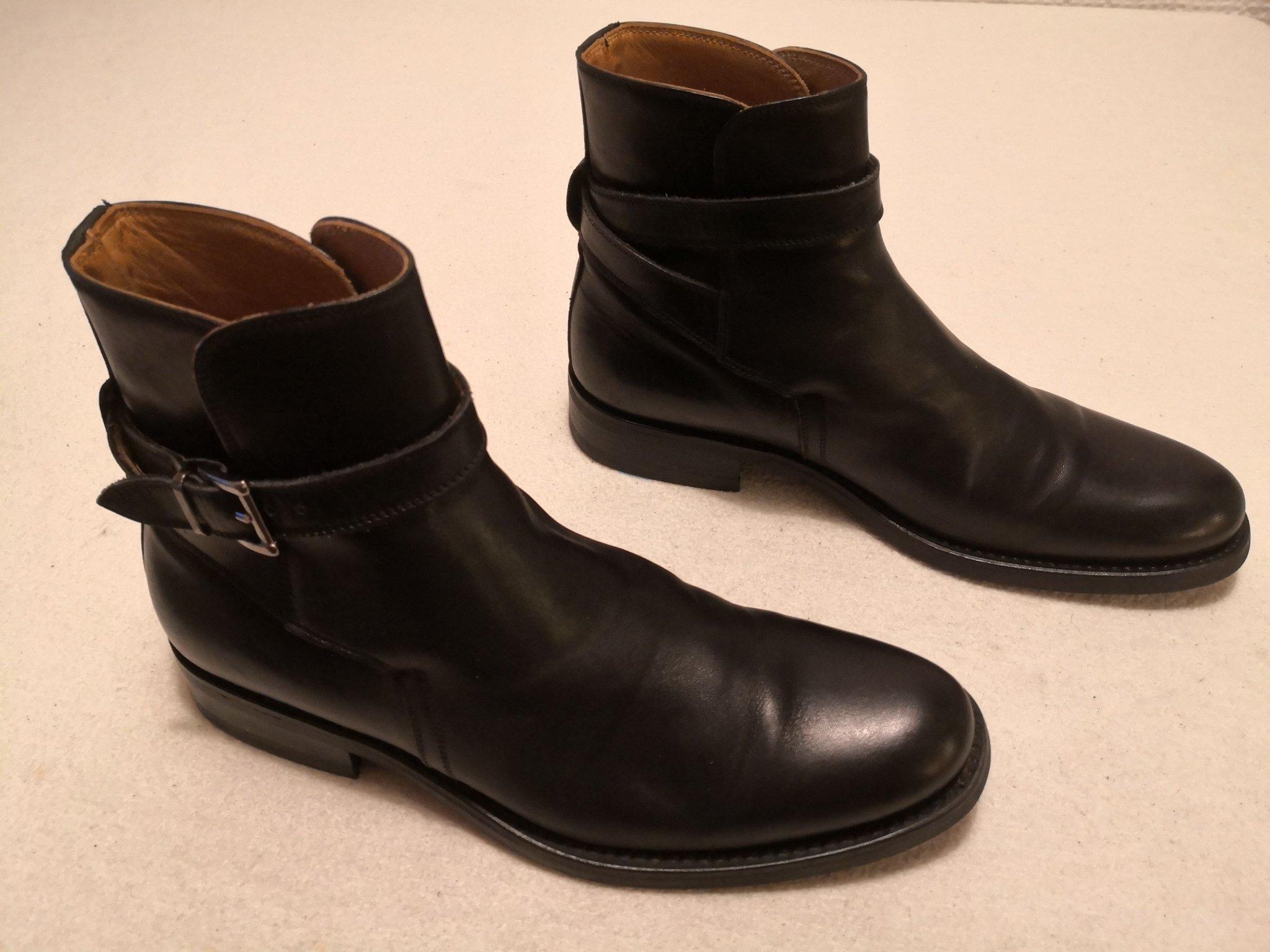 Italigente svarta skinn herr boots str 42 (422511501) ᐈ Köp