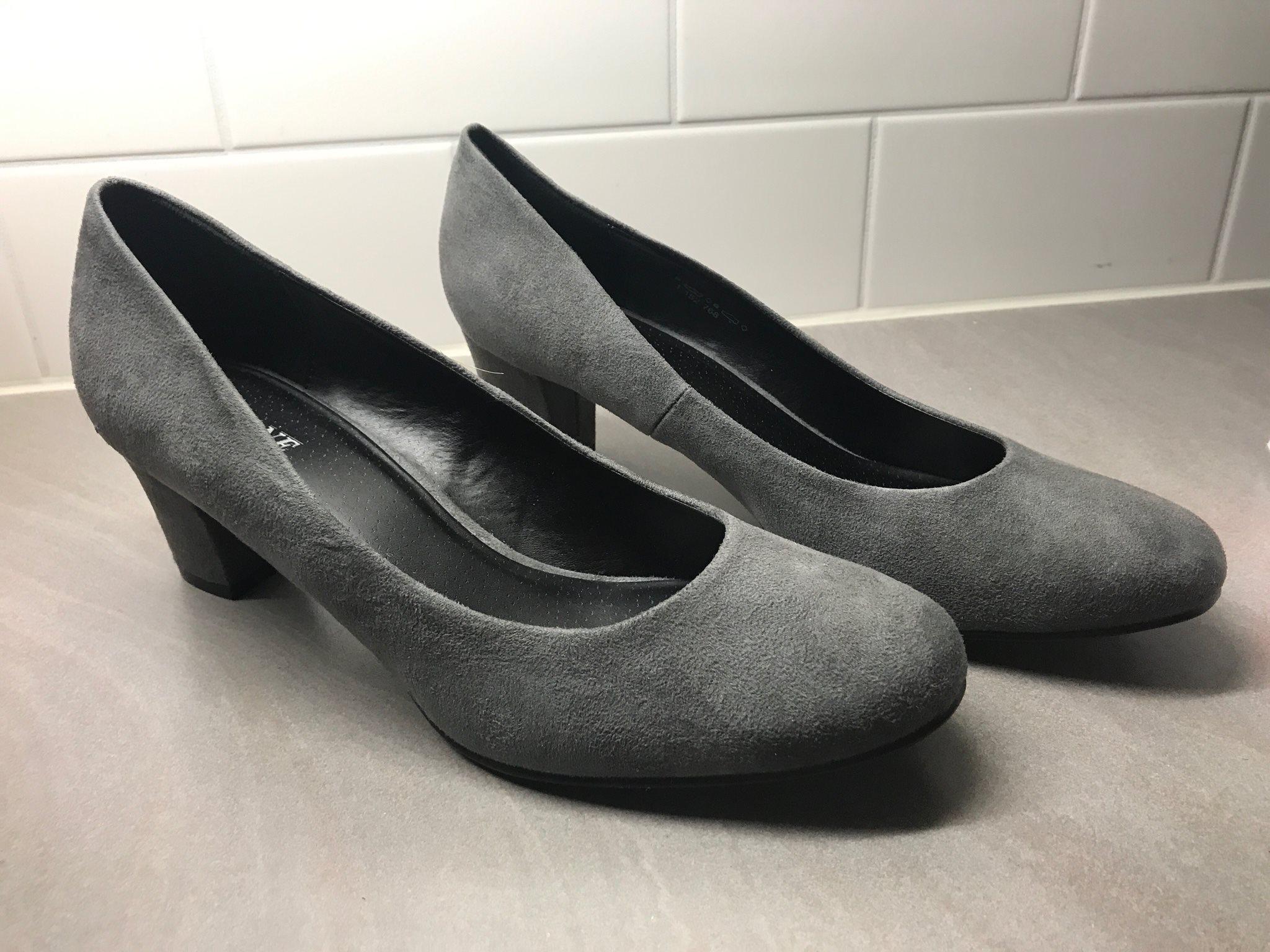 NYA Arianna grå högklackade skor stlk 42 (331478210) ᐈ Köp på Tradera d17b44b220778