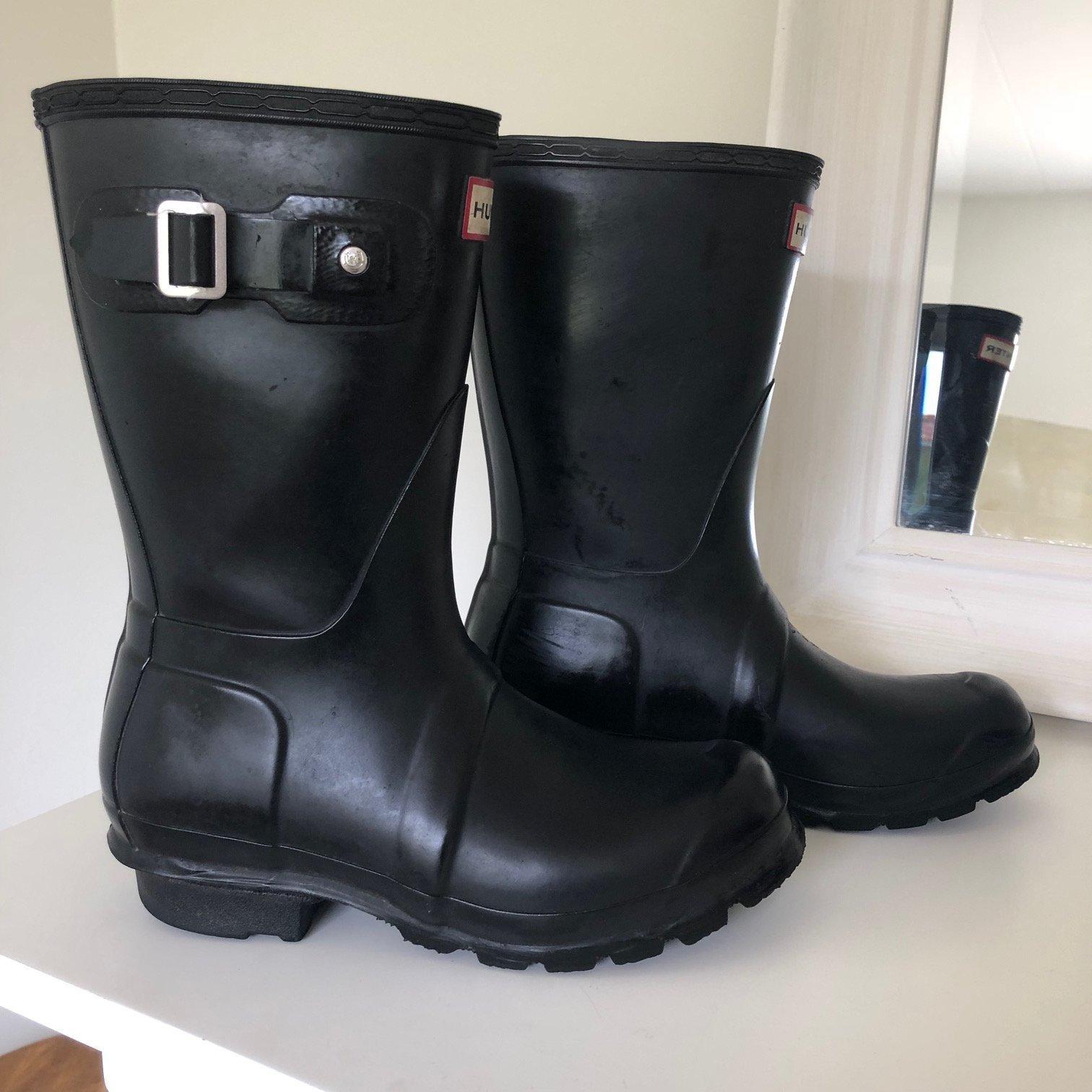 Svarta stövlar *HUNTER* Gummistövlar Short Boot.. (351914105