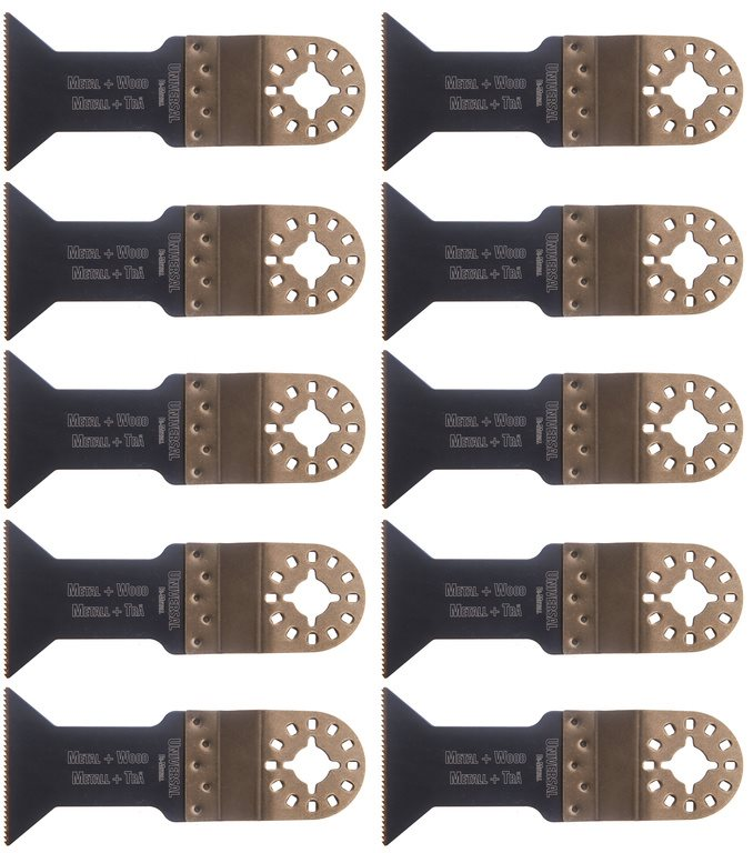 10 Sågblad Universal 44mm i bi-metall till Fein, Bosch, Makita m.fl.
