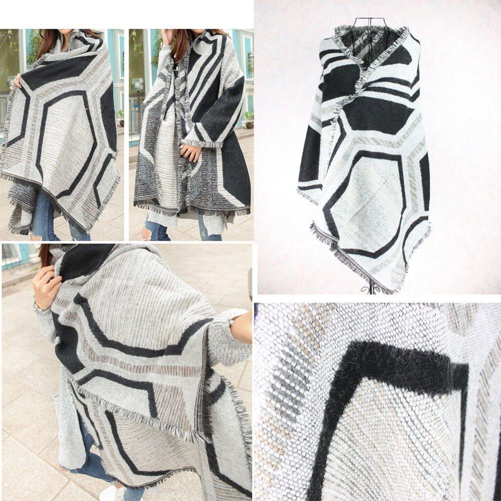 Högkvalitativ Extra Large Pashmina Scarf Sjal Tarten Design