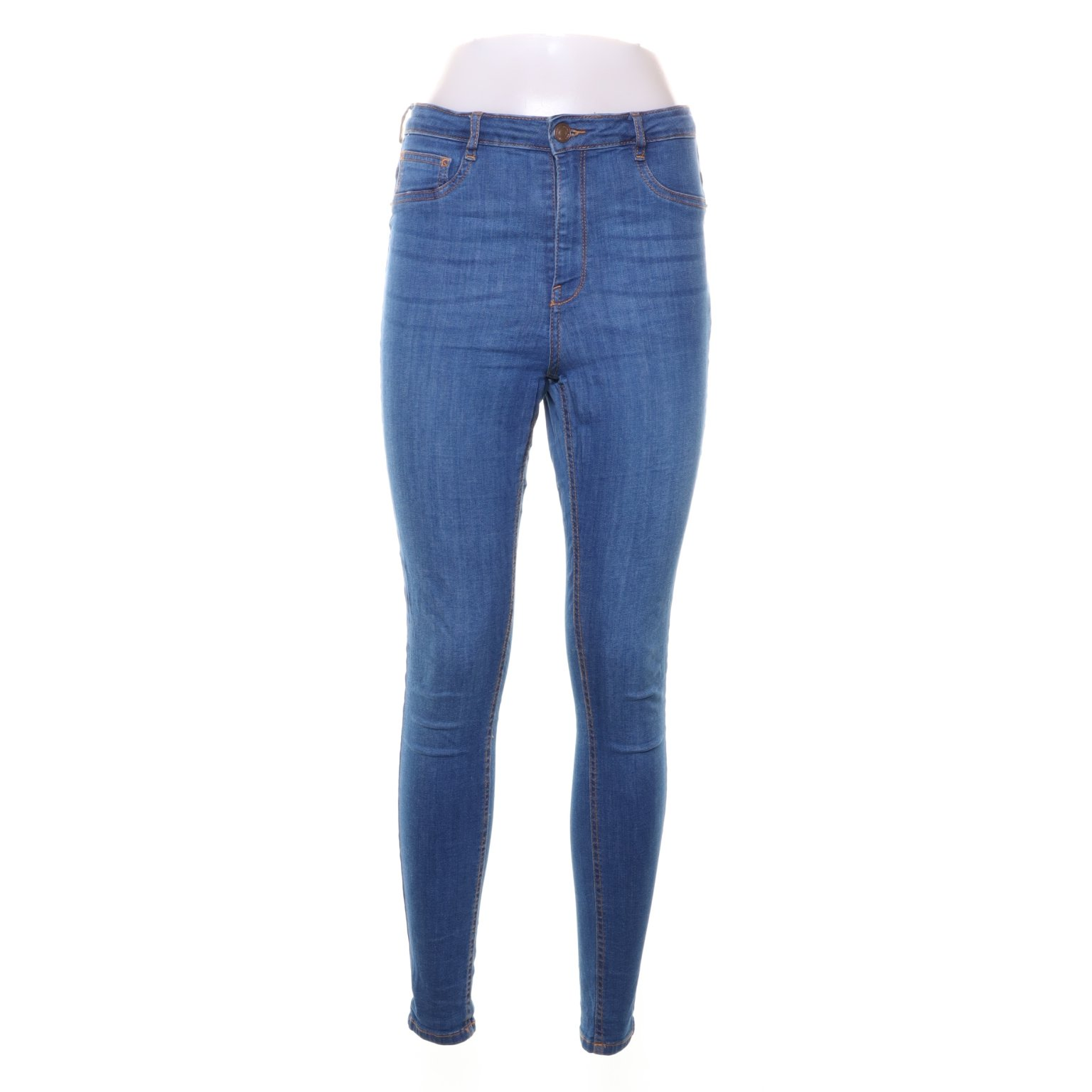 Perfect Jeans Gina Tricot, Treggings, Strl: L, Molly, Blå, Bomull/Elastan