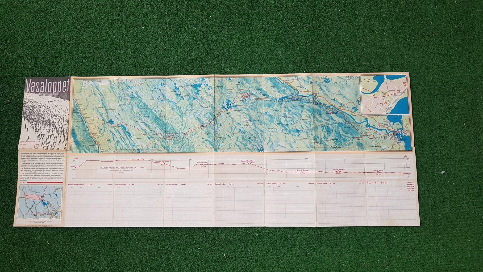 karta över vasaloppet KARTA FRÅN 1965 ÖVER VASALOPPET MORA (321618574) ᐈ Köp på Tradera karta över vasaloppet