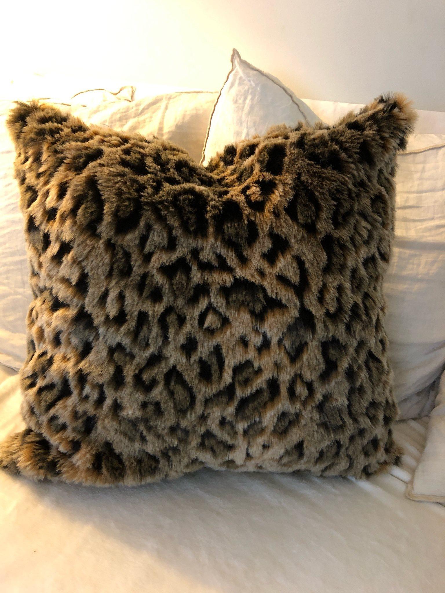 Superfint leopard kuddfodral - - - nytt 2f39bd