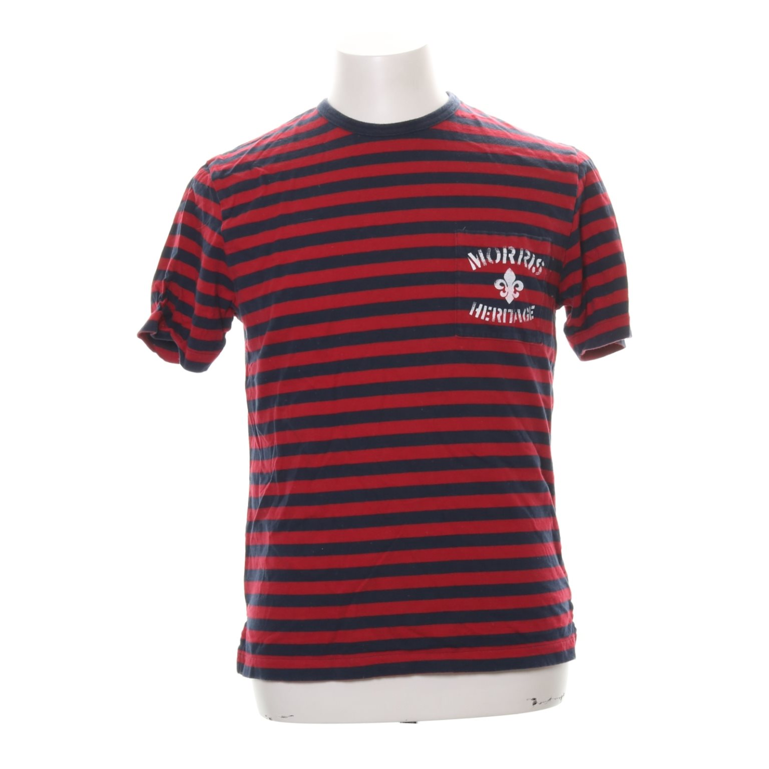 Morris, Morris, Morris, T-shirt, Strl: M, Röd/Marinblå, Bomull ded777