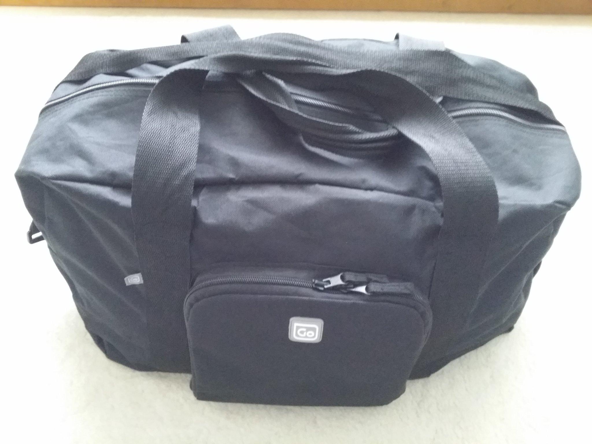 tränings väska på flyget