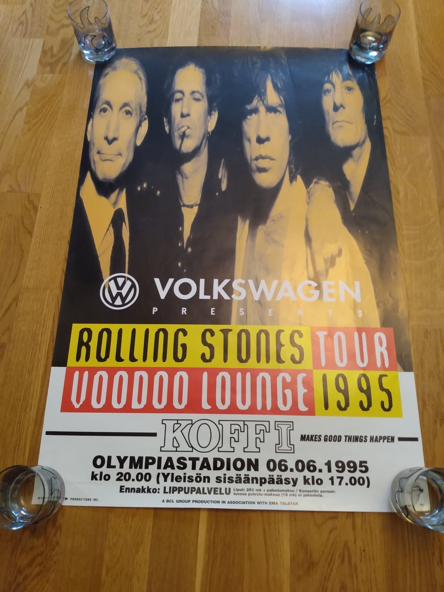 Rolling Stones Olympia stadion 1995 poster