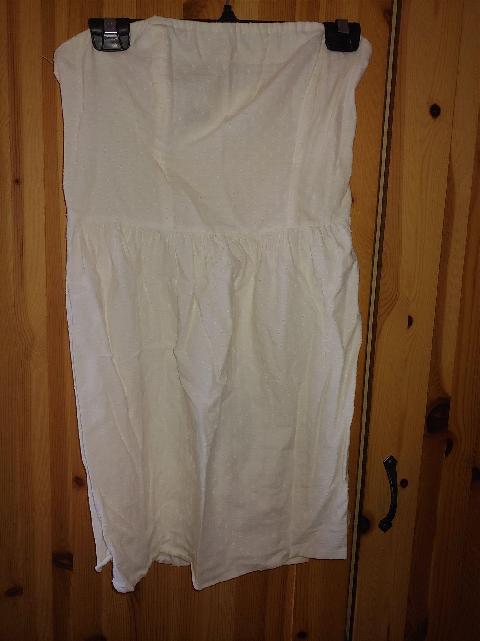 Vit söt axelbandslös klänning student strl 38 (338133528) ᐈ Köp på ... fad3451152bc2