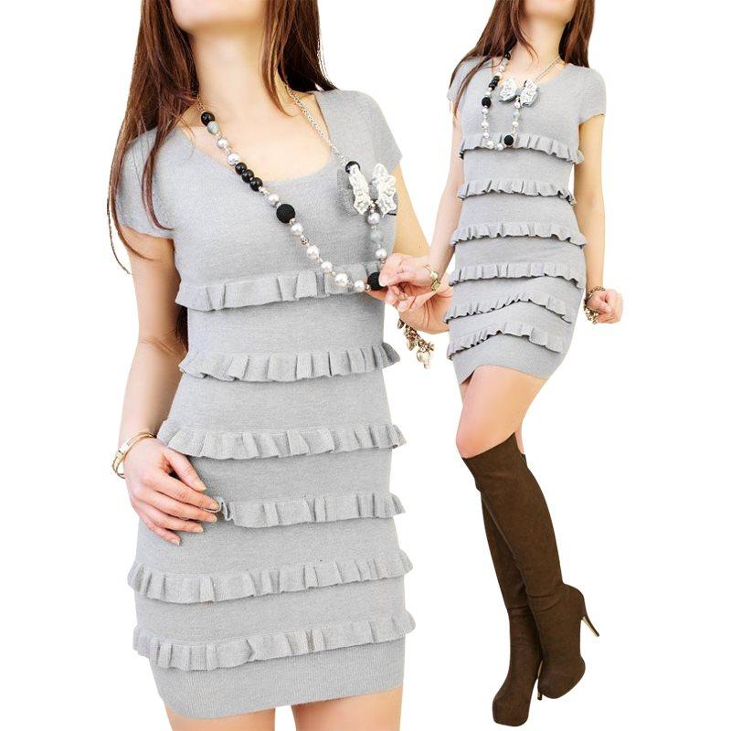 grå tight klänning