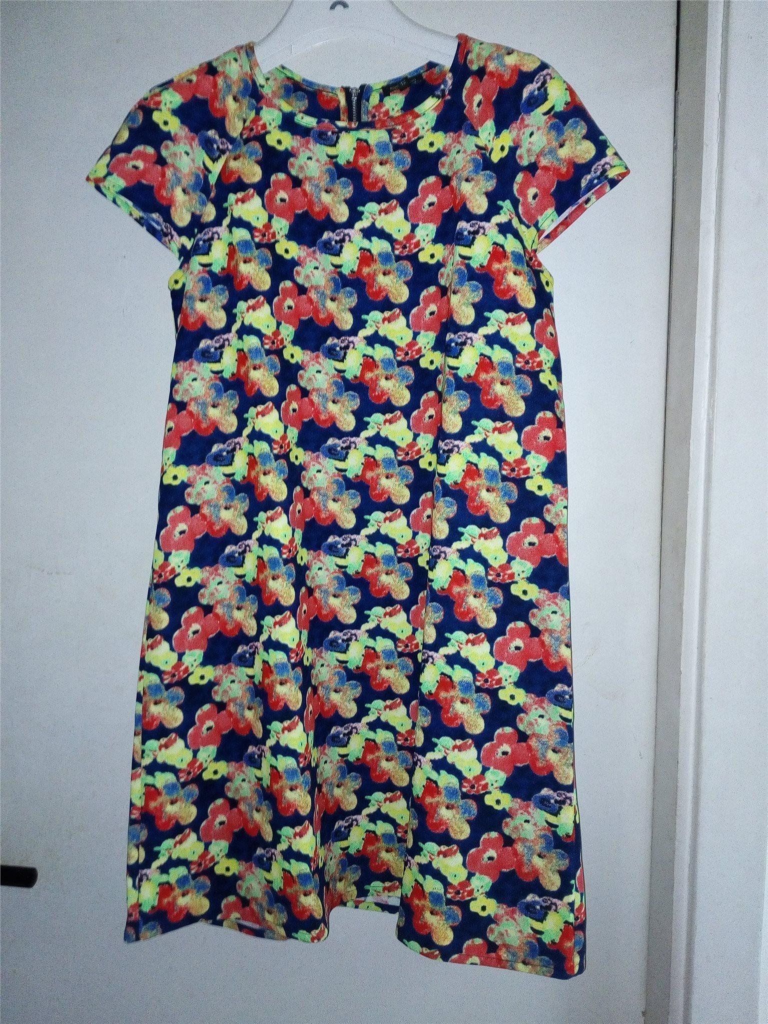 Supervacker blommig jul nyår klänning från enge.. (332160205