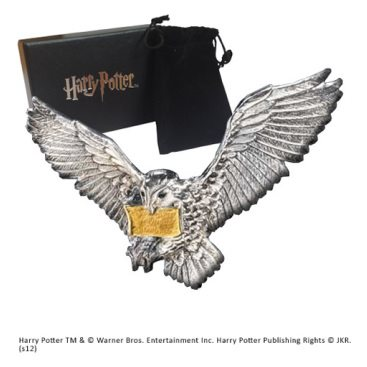 Harry Potter Brosch The Flying Hedwig Silver