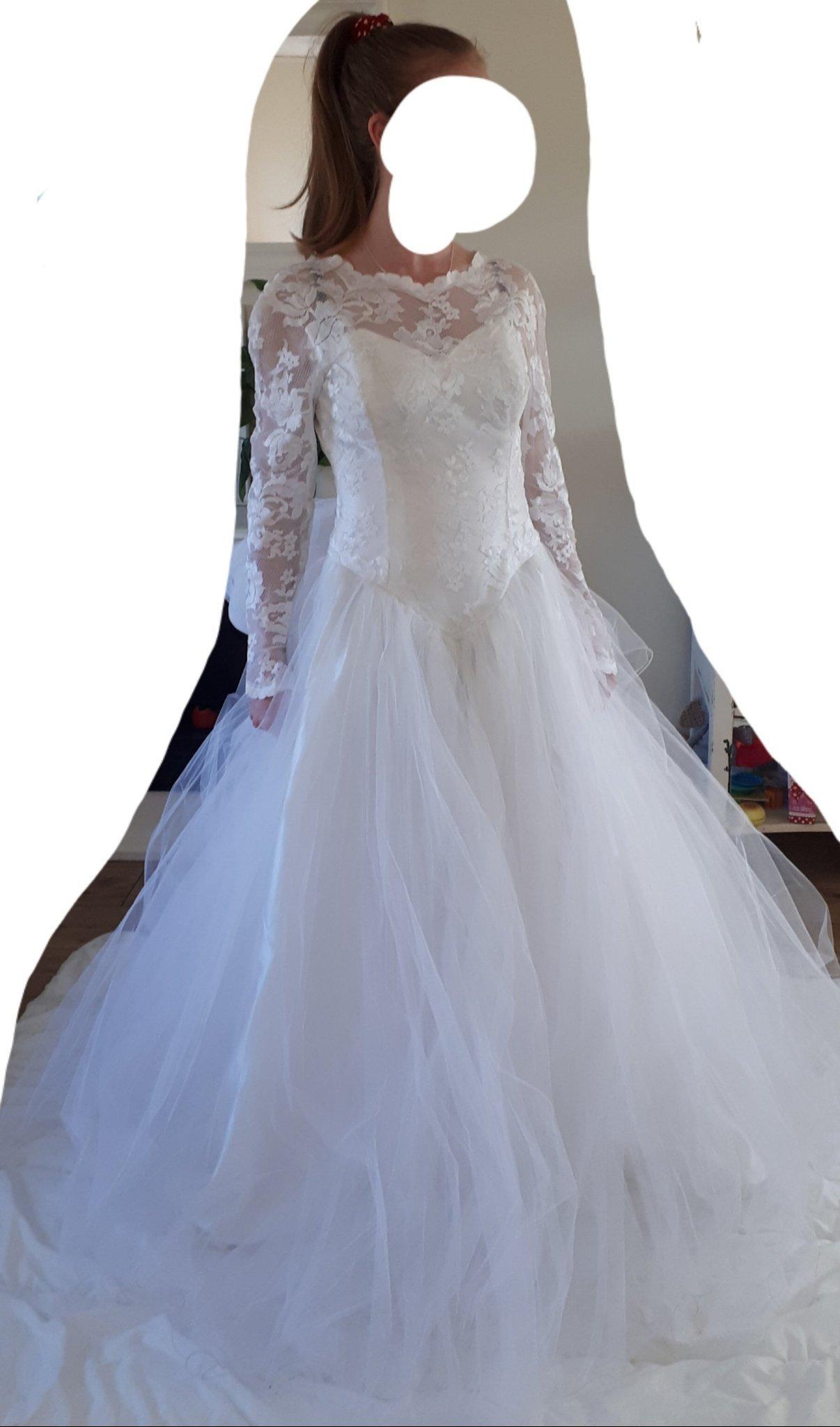 a57404ebe873 Brudklänning bröllopsklänning vit spets tyll k.. (352270858) ᐈ Köp ...