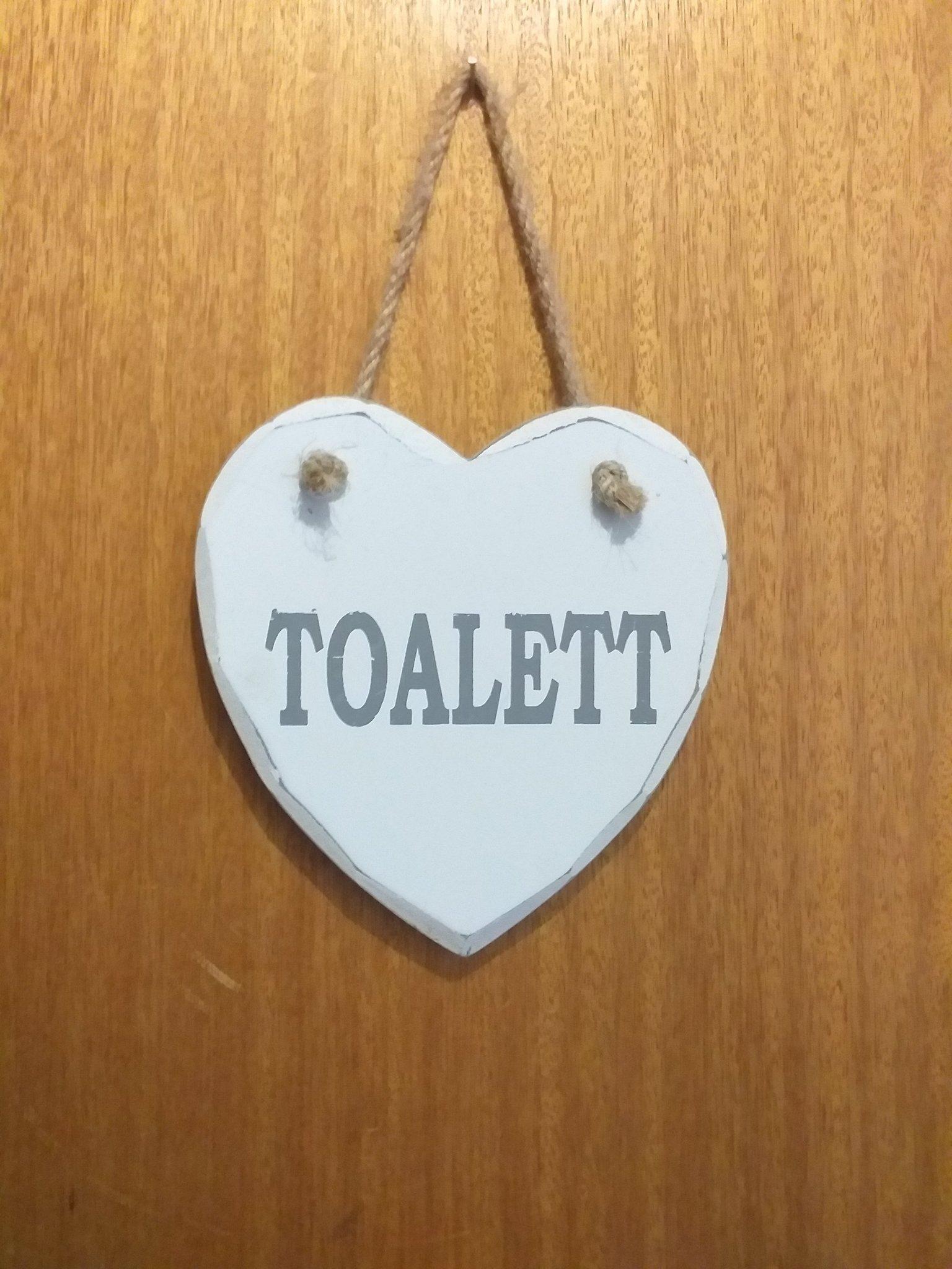 Nykomna Toalett skylt (356761640) ᐈ Köp på Tradera WV-83