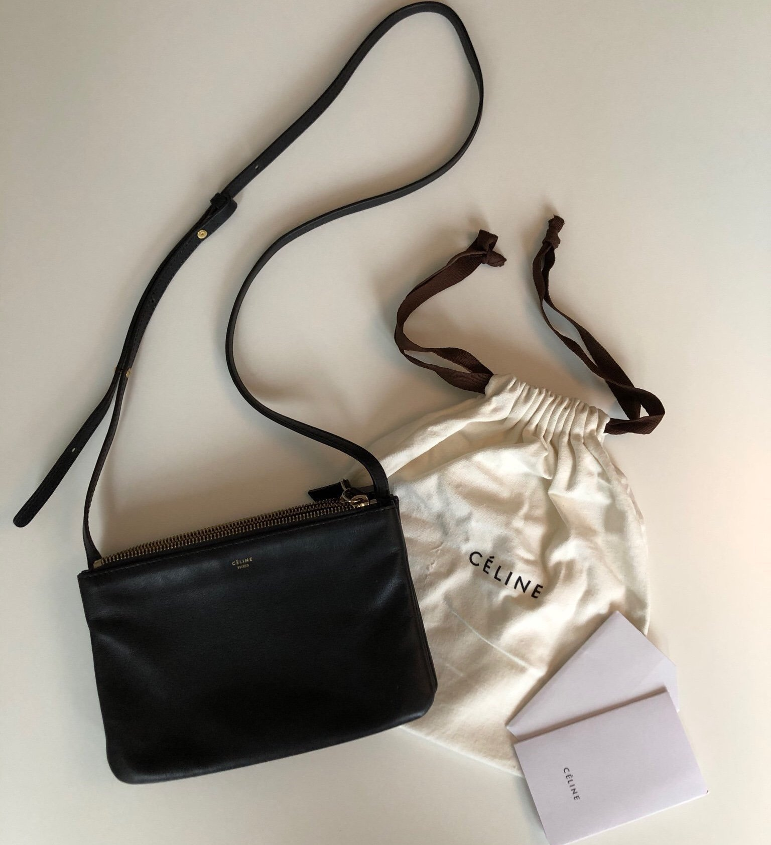 Céline trio bag size small