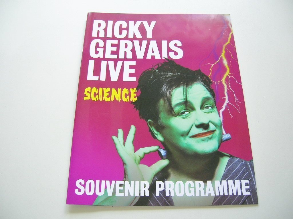 RICKY GERVAIS LIVE SCIENCE Souvenir Programme (mannen bakom The Office)