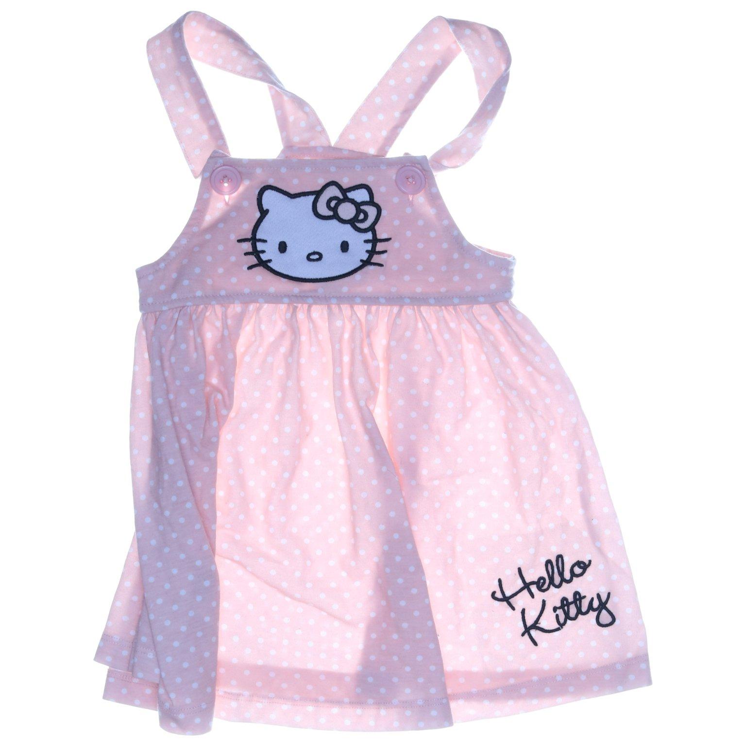 Sanrio, Hängselklänning, Strl: 80, Hello Kitty, Blå, PolyesterBomull
