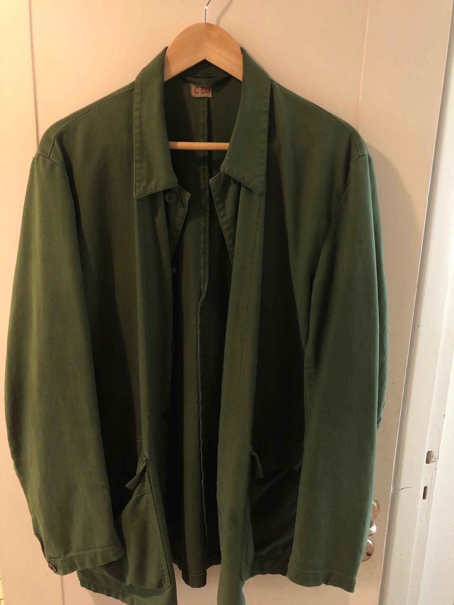 Vintage grön army jacka