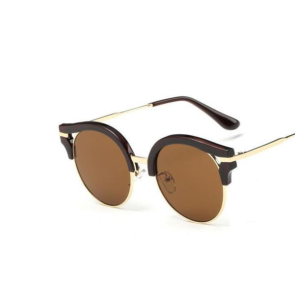 Solglasögon - Circle Look (Brun) (262475951) ᐈ Braoha på Tradera fb1e127337abb