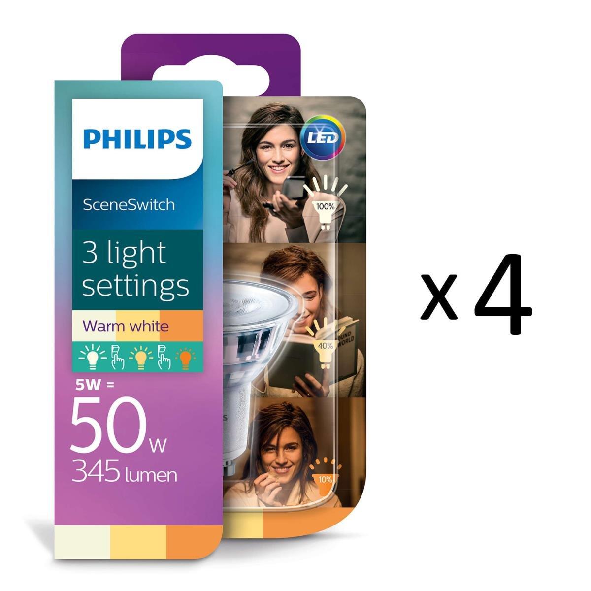 LED lampa Spot Scene Switch 3 färger 4,5W(50W) GU10 Philips
