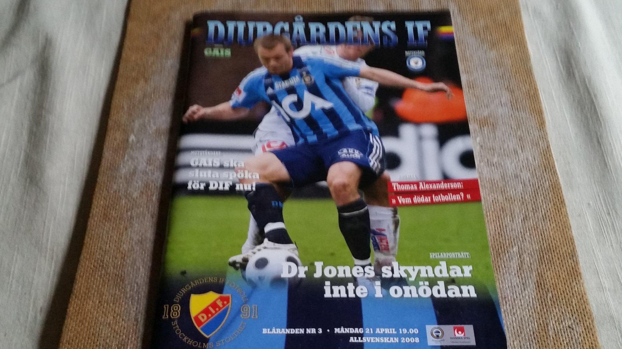 Program Fotboll Djurgarden If Gais 2008 352894202 ᐈ Kop