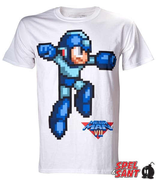 Capcom Mega Man T-Shirt Vit (Medium)