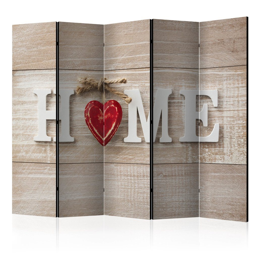Rumsavdelare - Room divider - Home and red heart 225x172